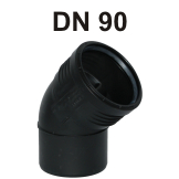 Silent-PP Bogen DN 90