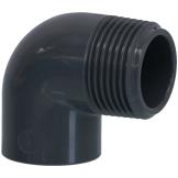 PVC Winkel 90° mit AG