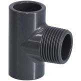 PVC T-Stück 90° mit AG