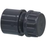 PVC Endsatz mit Gewindekappe