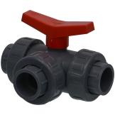 PVC 3-Wege-Kugelhahn