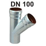 Loro-X Stahl-Abflusssystem Abzweig DN 100