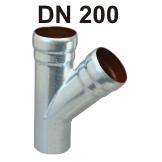 Loro-X Stahl-Abflusssystem Abzweig DN 200
