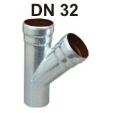 Loro-X Stahl-Abflusssystem Abzweig DN 32