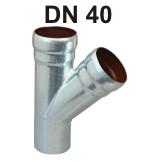 Loro-X Stahl-Abflusssystem Abzweig DN 40