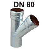 Loro-X Stahl-Abflusssystem Abzweig DN 80