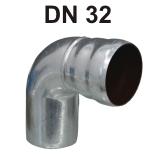 Loro-X Stahl-Abflusssystem Bogen DN 32