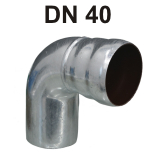 Loro-X Stahl-Abflusssystem Bogen DN 40