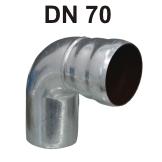 Loro-X Stahl-Abflusssystem Bogen DN 70