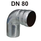 Loro-X Stahl-Abflusssystem Bogen DN 80