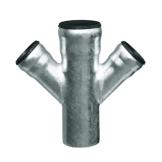 Loro-X Stahl-Abflusssystem Doppel- und Übergangsabzweige