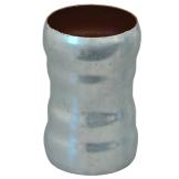 Loro-X Stahl-Abflusssystem Doppelmuffe
