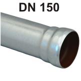 Loro-X Stahl-Abflusssystem Rohr mit Muffe DN 150