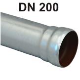 Loro-X Stahl-Abflusssystem Rohr mit Muffe DN 200