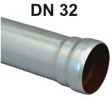Loro-X Stahl-Abflusssystem Rohr mit Muffe DN 32