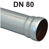 Loro-X Stahl-Abflusssystem Rohr mit Muffe DN 80
