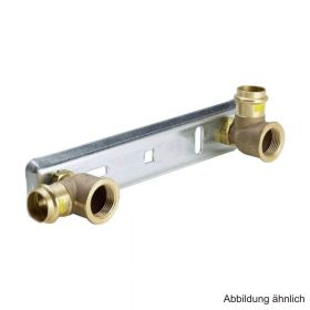 """Viega Profipress G-Gaszähleranschlussplatte für Zweistutzengaszähler Modell G2325, 22 mm x Rp 1"""""""