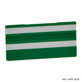 Simplex Leere Schilder 100 x 50 mm, grün mit 2 Leerleisten