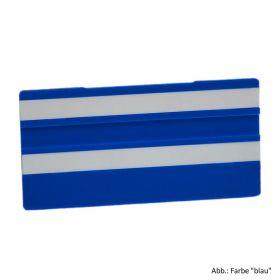 Simplex Leere Schilder 100 x 50 mm, blau mit 2 Leerleisten