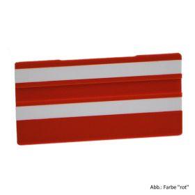 Simplex Leere Schilder 100 x 50 mm, rot mit 2 Leerleisten