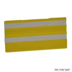 Simplex Leere Schilder 100 x 50 mm, gelb mit 2 Leerleisten