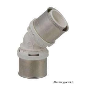 Alpex L Winkel 45 Grad, 75 mm, Messing