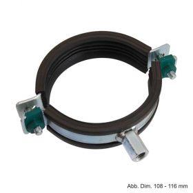BIS Schwerlastschelle HD1501, M8 / M10, (BUP1000), 15 - 19 mm