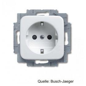 Busch-Jaeger SCHUKO Steckdosen-Einsatz, integrierter erhöhter BS, alpinweiß 20 EUCKS-214