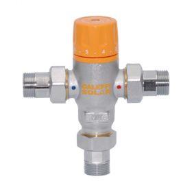 Caleffi Thermomischer 30 - 65 °C, mit Rückschlagventilen für Solaranlagen 252153