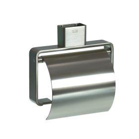 EMCO loft Papierhalter mit Deckel, Edelstahl-Optik, 050001600