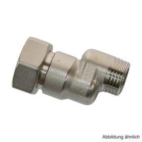 """Exzenterverschraubung S-Anschluss 1/2"""" x 3/4"""" Überwurfmutter, 10 mm Versatz"""