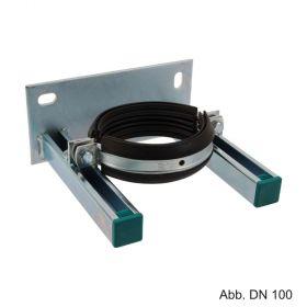 Fallrohrstützenhalter für Abwasserrohr, DN 70, di=78mm