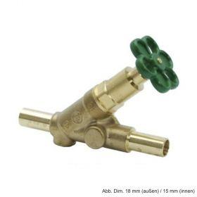 Multi-System Freistromventil aus Pressmessing o. E. DN 15 (da 15 mm di 12 mm)