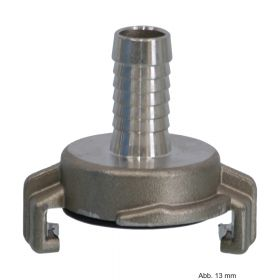 Edelstahl 316 Schnellkupplung mit Schlauchtülle 19 mm, Knaggenabstand 40 mm