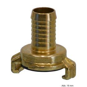 Messing Schnellkupplung mit Schlauchtülle 10 mm, Knaggenabstand 40 mm