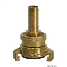 Messing Saug-und Hochdruckkupplung, 19 mm, Knaggenabstand 40 mm
