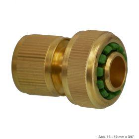 Messing Klick-Schnellkupplung, Klemm x Klickmuffe, 12-15 mm