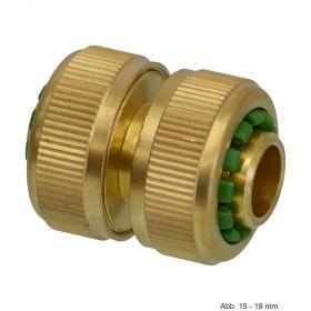 Messing Klick-Schlauchverbinder, Klemm, 12-15 mm