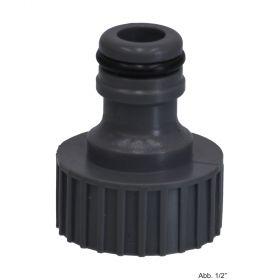 "PVC-U Hydro-Fit Hahnanschluss, IG x Klickstecker 1/2"", Grau"