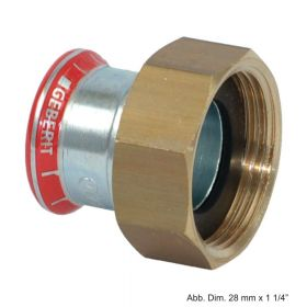 "Geberit Mapress C-Stahl Anschlussverschraubung flachdichtend, 28mm x 1 1/2"""