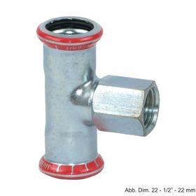 """Geberit Mapress C-Stahl T-Stück, 12 mm x 3/8"""" x 12 mm"""