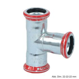 Geberit Mapress C-Stahl T-Stück, 12-12-12 mm