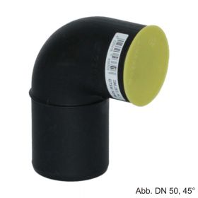 Geberit Silent-PP Anschlußbogen mit 1 Muffen, DN 40-40-90°