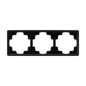 Gira S-Color Abdeckrahmen 3fach, schwarz 021347