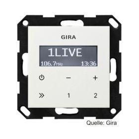 Gira System 55 Unterputz-Radio RDS ohne Lautsprecher ST55, reinweiß-glänzend, 228403