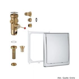 GROHE Druckspüler für WC, Austauscharmatur, 6 - 9 l einstellbar, verchromt 42901000