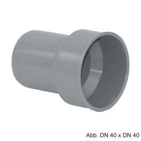 HT-Anschlussstück an Metallrohr, ohne Gummimanschette, DN 40 x DN 40