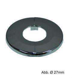Klapprosetten verchromt, Ø 65 x h 6,5 mm, Ø 16 mm