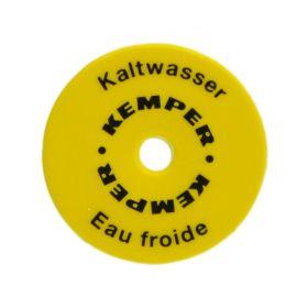 """Kemper Handrad-Bezeichnungsschilder, Farbe gelb """"Kaltwasser"""", 17380600CH"""