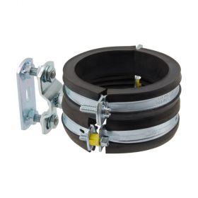 Körperschalldämmende Stützbefestigung für Abwasserleitungen, DN 70, di=75mm